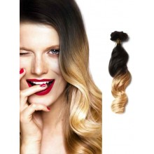 Black to Golden Blonde Clip in Hair Extensions