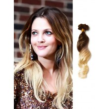 Brown to Blonde Wavy Cheap Ombre Hair Extension