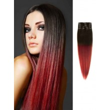 Cheap Straight Burgundy Ombre Hair Extensions