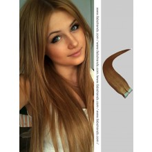 Chestnut Brown Tape in Hair Extensions