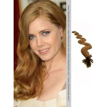 Chestnut Brown Wavy Stick Tip Hair Extensions