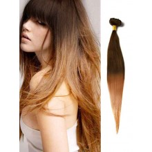 Chocolate Brown Silky Ombre Human Hair Extensions