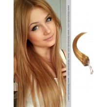 Golden Brown Micro Loop Human Hair Extensions
