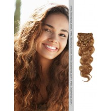 Golden Brown Wavy Clip In Hair Extensions