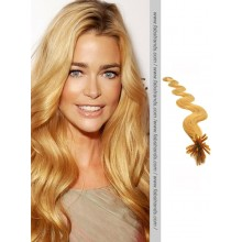 Strawberry Blonde Wavy Stick Tip Hair Extensions