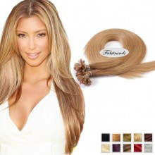 Ash Blonde Nail Tip Pre Bonded Hair Extensions