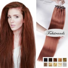 Auburn Micro Loop Human Hair Extensions