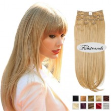 Wheat Blonde Hair Clip In Hair Extensions