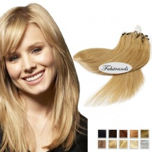 Wheat Blonde Micro Loop Human Hair Extensions