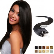 Black Micro Loop Human Hair Extensions