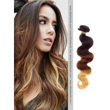 Black to Brown Wavy Ombre Hair Weaves