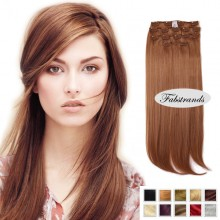 Medium Brown Clip In Hair Extensions