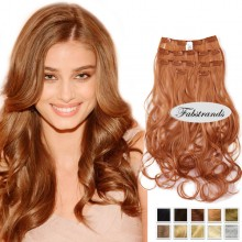 Medium Brown Wavy Clip In Hair Extensions