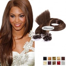 Chocolate Brown Nail Tip Pre Bonded Hair Extensions