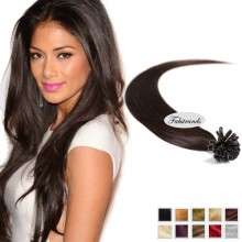 Dark Brown I Tip Pre Bonded Hair Extensions