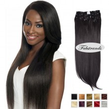 Natural Black Clip In Hair Extensions