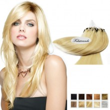 Pale Blonde Micro Loop Human Hair Extensions