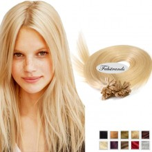 Pale Blonde Nail Tip Pre Bonded Hair Extensions