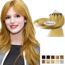 Strawberry Blonde Micro Loop Human Hair Extensions